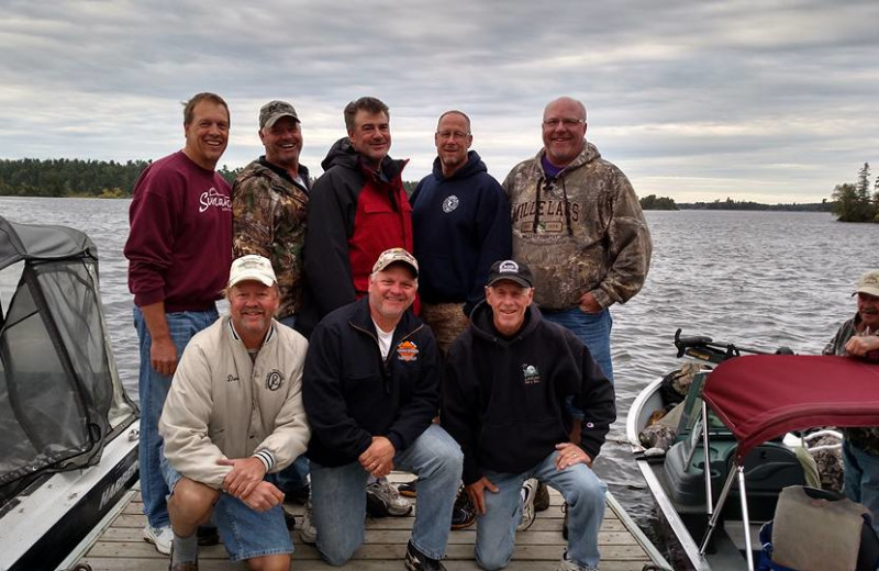 Group at Fishing Pipestone Point Resort.