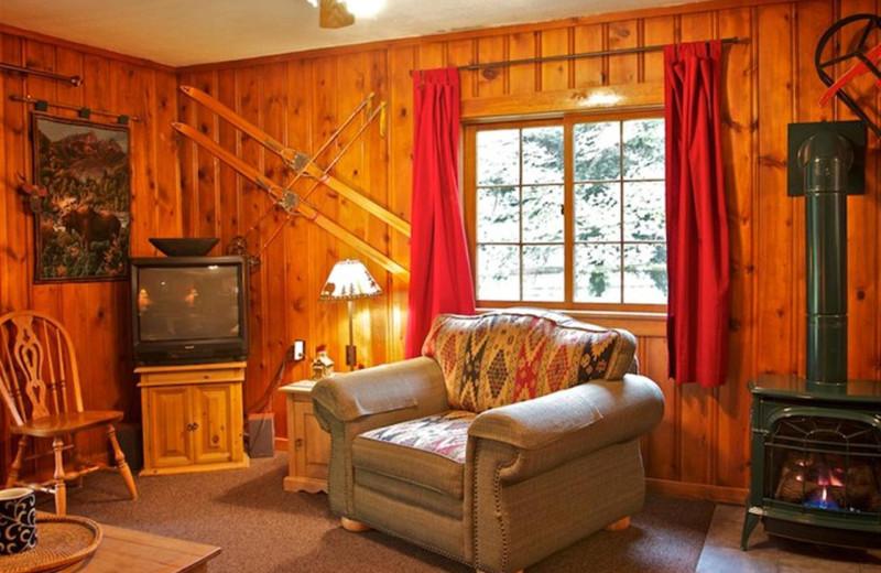 Cabin living room at Cold Springs Resort.