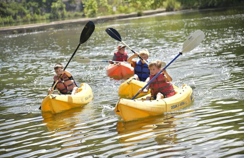 Kayaking at Mo-Ranch.
