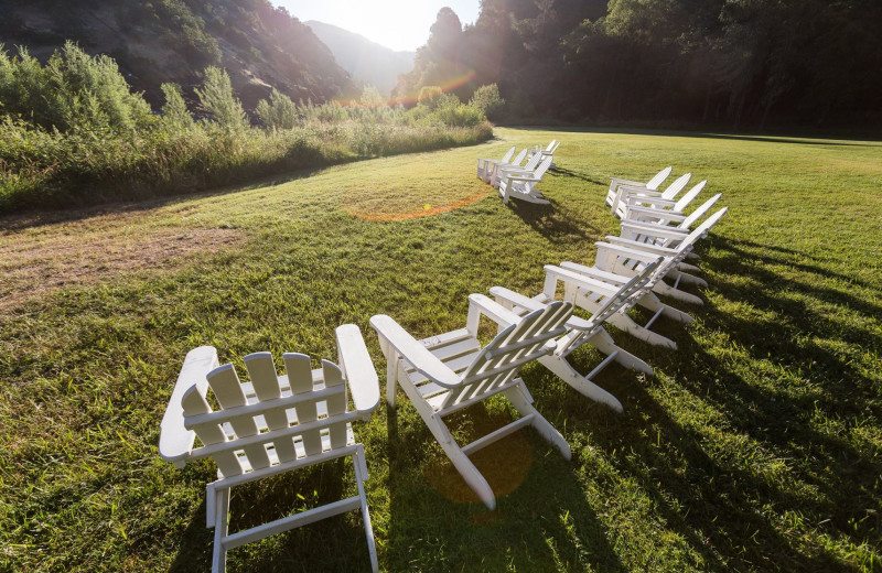 Chairs at Morrison's Rogue River Lodge.