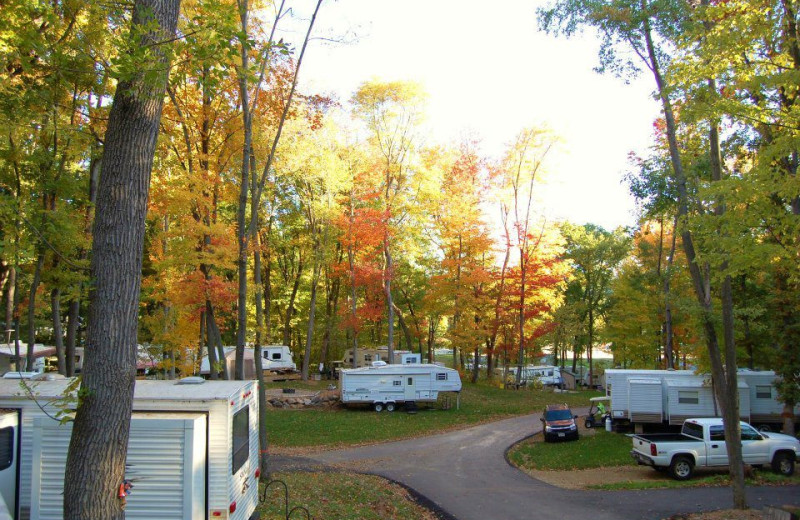 RV sites at Merry Mac's Campground