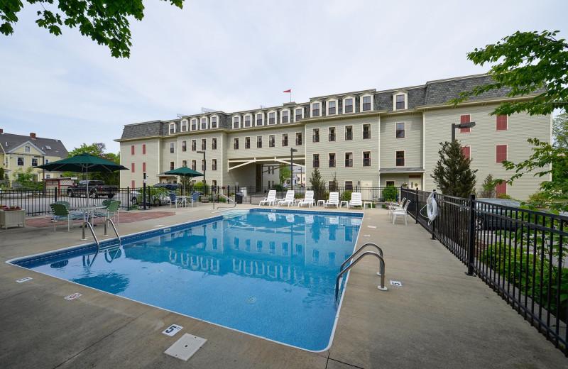 Outdoor pool at Bar Harbor Grand Hotel.
