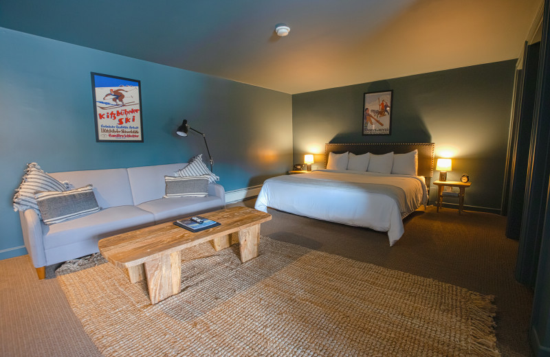 Guest room at The Winwood Inn at Windham Mountain.