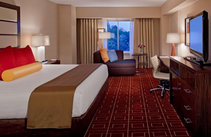 Guest room at Hyatt Regency Sacramento.