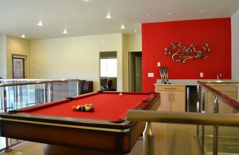 Billiard table at Brian Head Vacation Rentals.