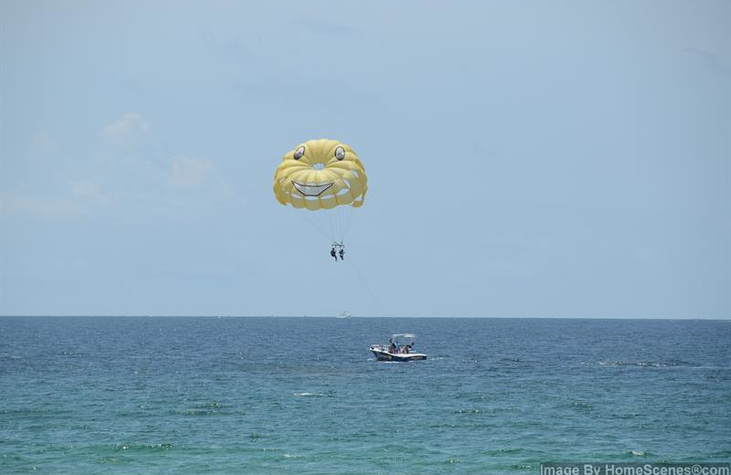 Parasailing at Shoreline Towers.