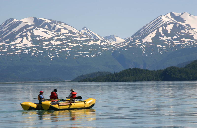 Kayaking at Kenai Backcountry Lodge.