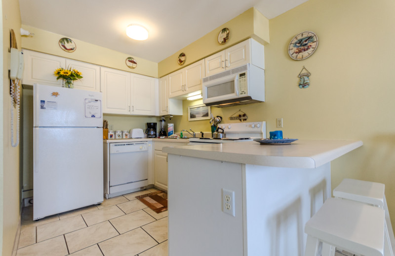 Rental kitchen at Perdido Skye Resort.