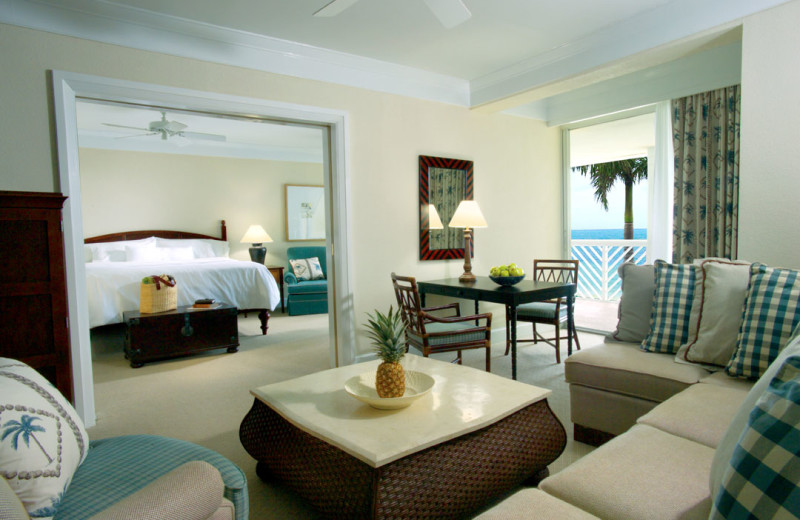 Guest room at Our Lucaya Beach & Golf Resort.