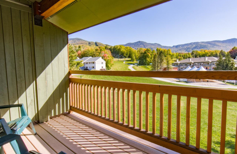 Guest balcony at Smugglers' Notch Resort.