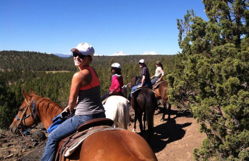 Horseback riding at Long Hollow Ranch.