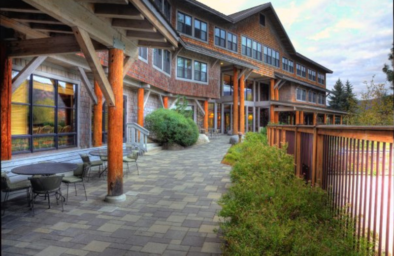 Exterior view of Sun Mountain Lodge.