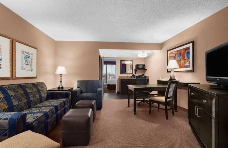 Guest suite at Embassy Suites Kansas City.