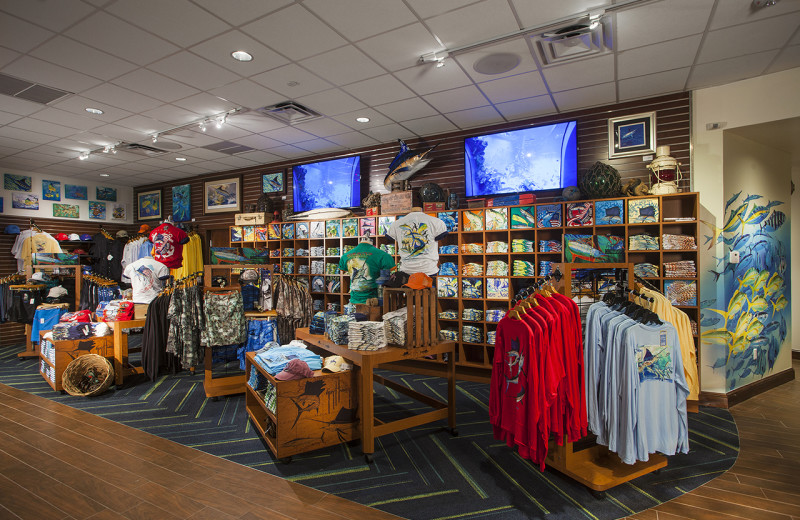 Gift shop at Guy Harvey Outpost Resort.