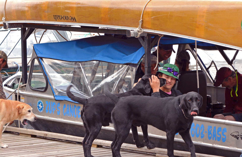 Pets welcome at Zup's Fishing Resort and Canoe Outfitters.