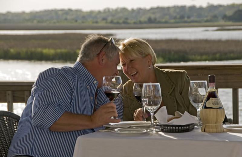 Couple dining at Ocean Isle Inn.