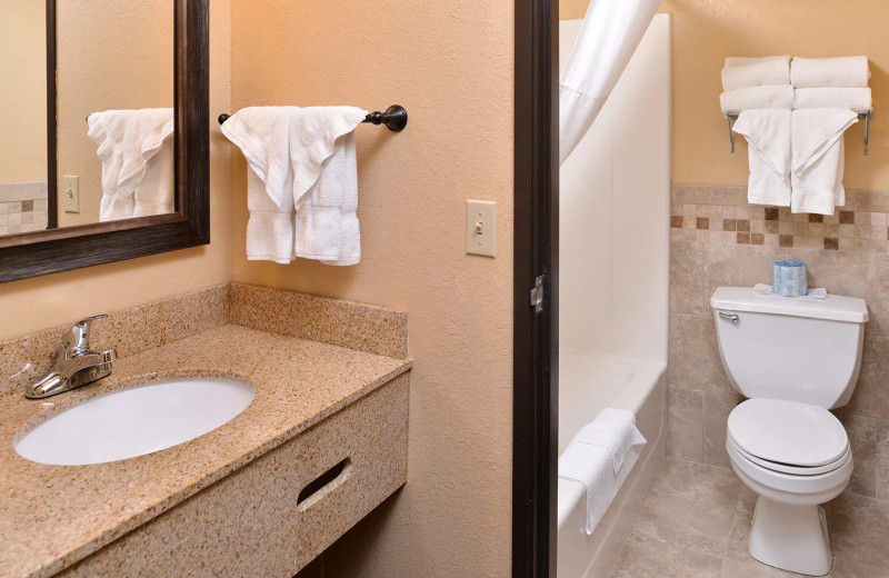 Guest bathroom at AmericInn by Wyndham - Fergus Falls.
