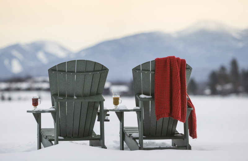 Winter lake view at Mirror Lake Inn Resort & Spa.