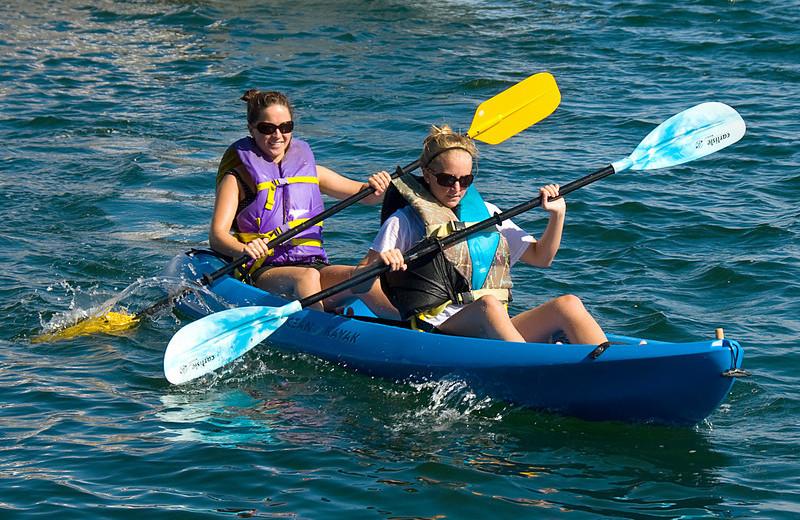 Kayaking at Sawmill Creek Resort.