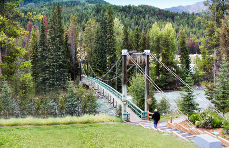 Bridge Across Property at the Panorama Vacation Retreat at Horsethief Lodge