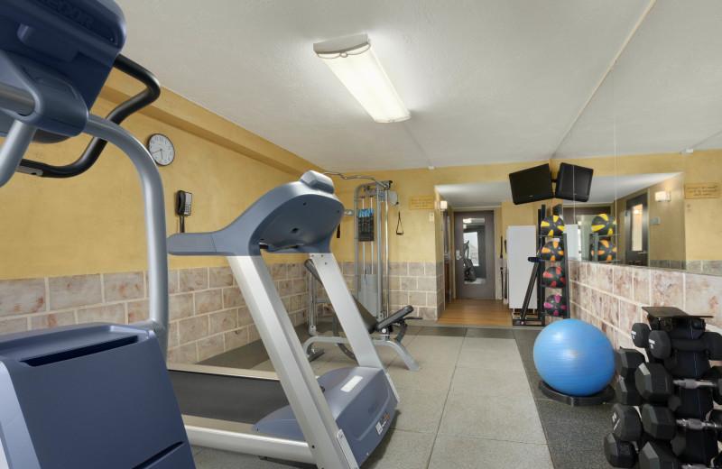 Fitness room at Ramada Plaza.