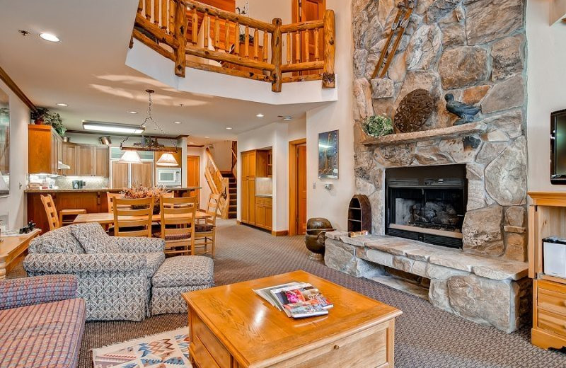 Vacation Rental Living Room At SkyRun Rentals