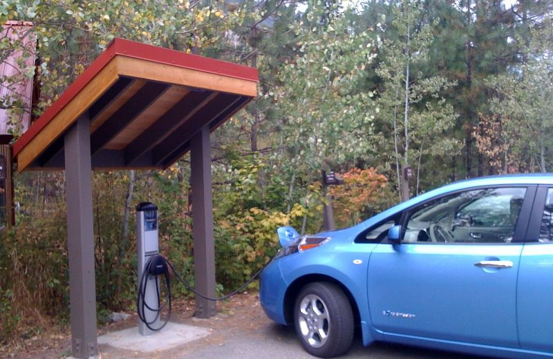 Electric car charger at Sleeping Lady.