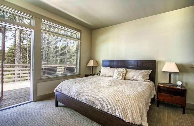 Rental bedroom at Seabrook Cottage Rentals.