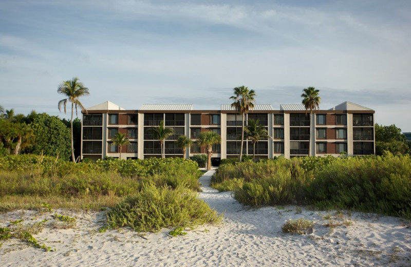 Exterior view of Pelicans Roost Condominiums.