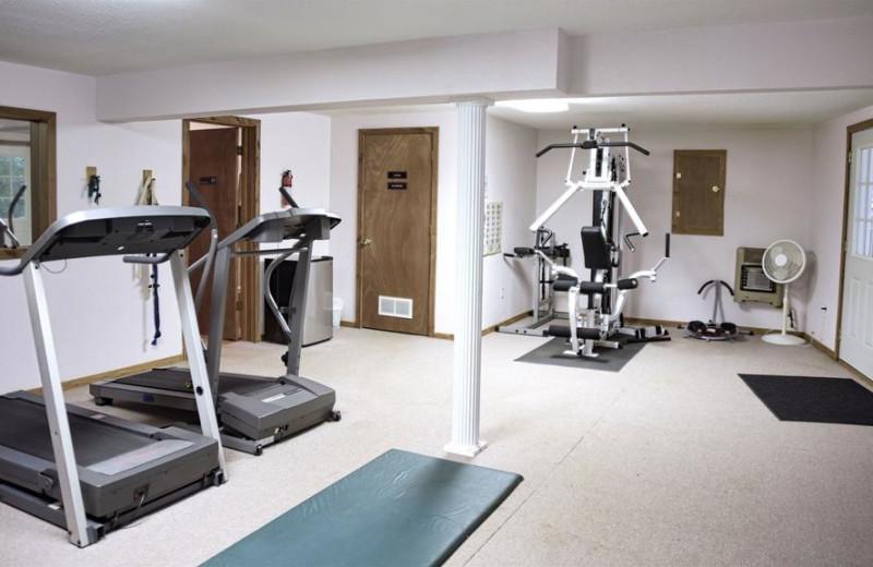 Fitness room at River Ridge Inn.