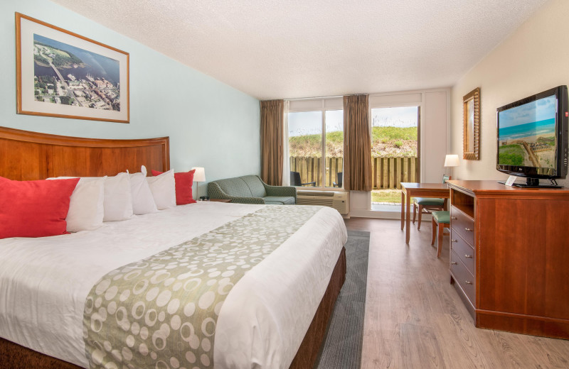 Guest room at Ramada Plaza Nags Head Oceanfront.
