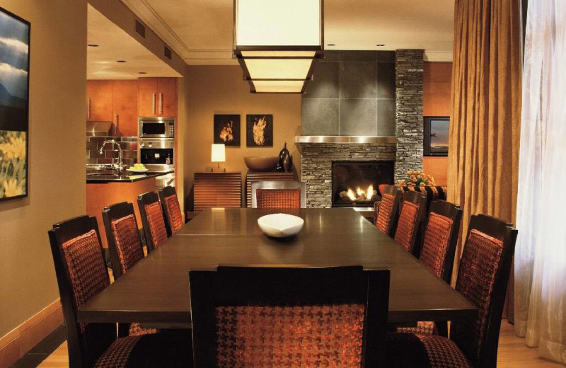 Dining room at Four Seasons Resort Whistler.