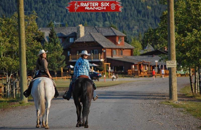 Family at Rafter Six Ranch Resort.