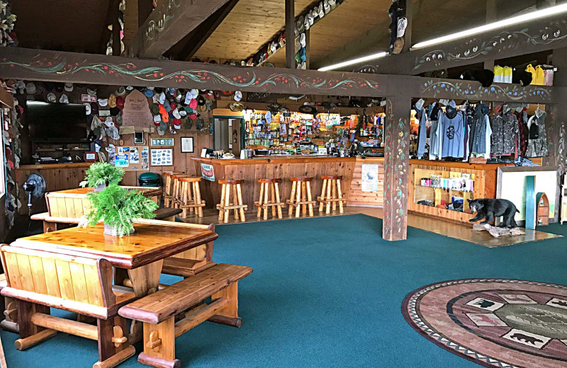 Lobby at Zup's Fishing Resort and Canoe Outfitters.