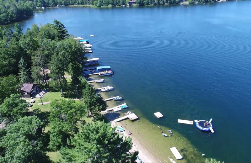 Aerial view of Bay View Lodge.