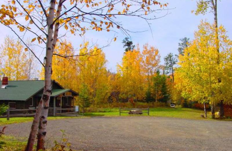 Cabin at Golden Eagle Lodge.