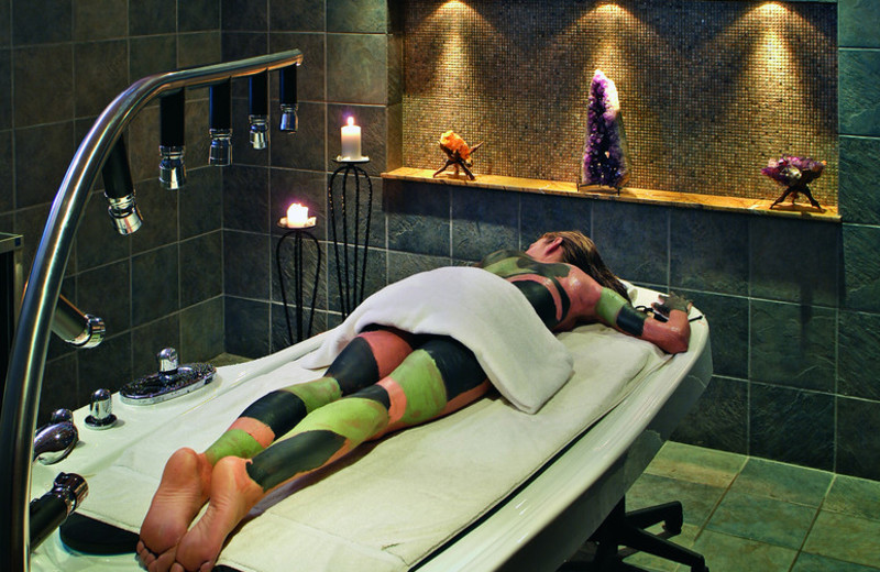 Spa treatment at Minerals Hotel.