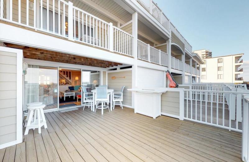 Rental deck at Vacasa Ocean City.