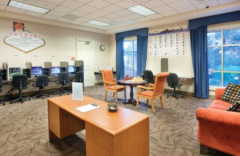 Business center at Wyndham Grand Desert.