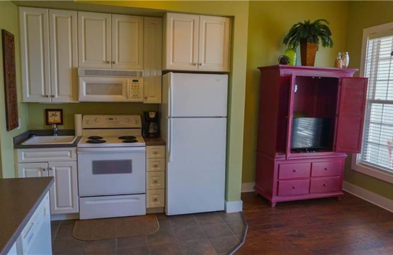 Rental kitchen at Sterling Resorts.