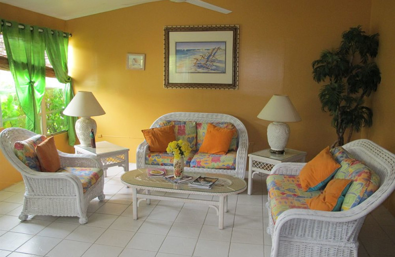 Living room at Eldemire's Tropical Island Inn.