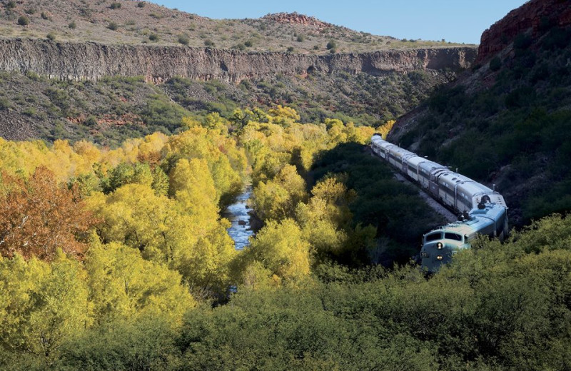 Train near Gainey Suites Hotel.