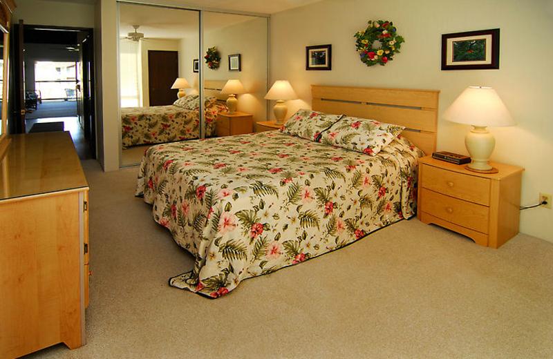 Vacation rental bedroom at Hale Kamaole Condos.