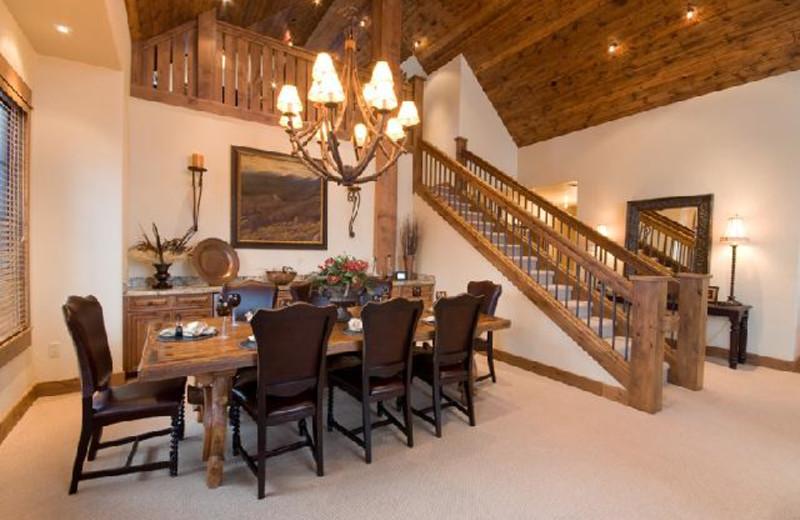 Rental dining room at Big Sky Luxury Rentals.