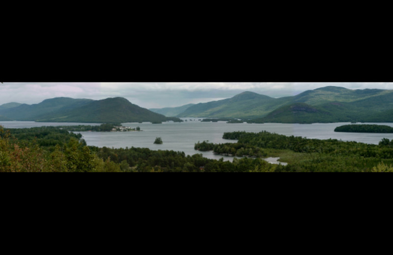 Lake view at Cool Ledge Family Resort.