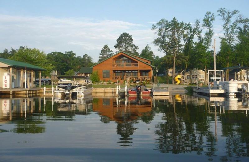 Harbor view of Birch Villa Resort.