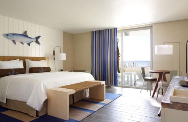 Guest room at Postcard Inn Beach Resort & Marina at Holiday Isle.
