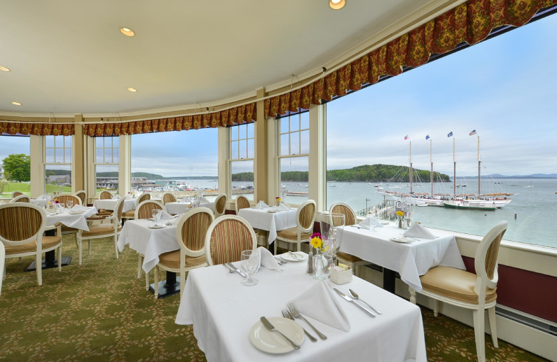 Dining at Bar Harbor Inn & Spa.