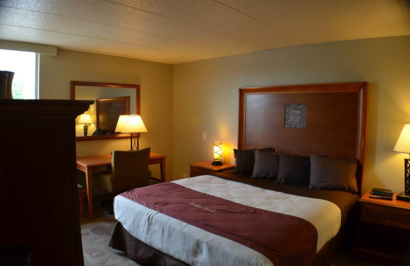 Guest room at Ambers Resort and Conference Center.