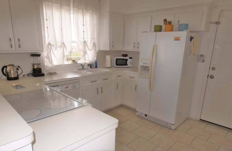 Vacation rental kitchen at Ryson Vacation Rentals.